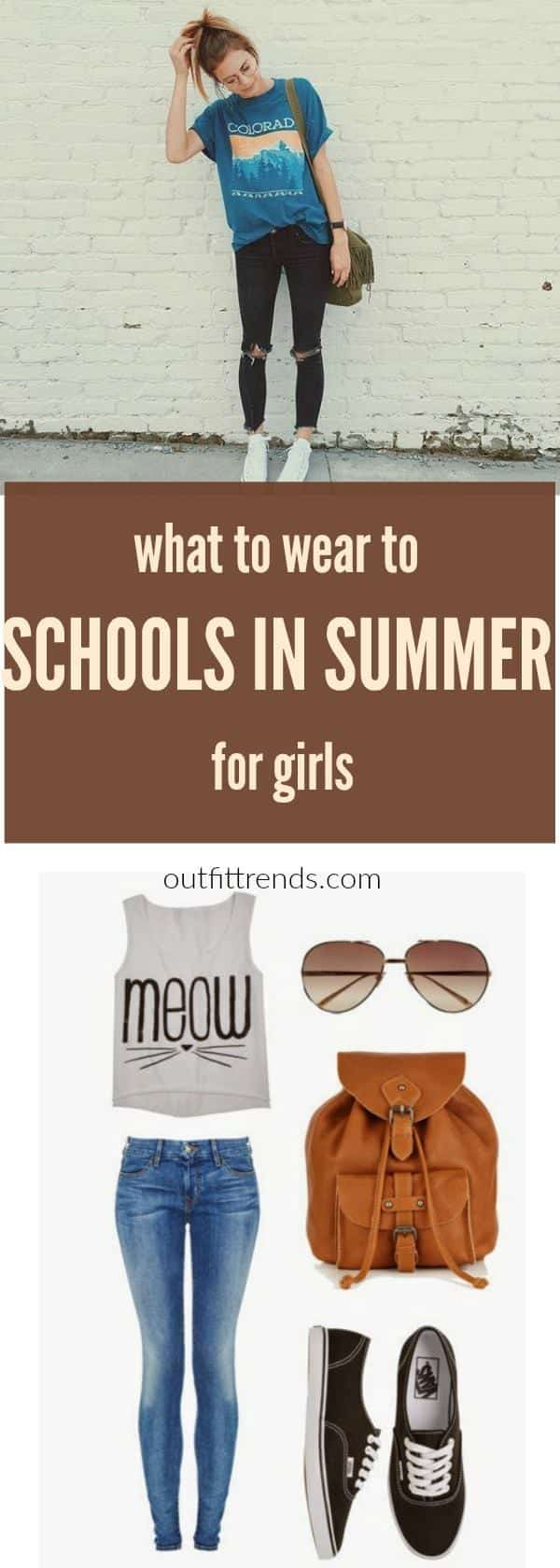summer-girls Summer School Outfits-30 School Outfits for Girls in Summers
