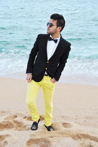 wedding-outfit-2 Men's Yellow Pants Outfits-35 Best Ways to Wear Yellow Pants