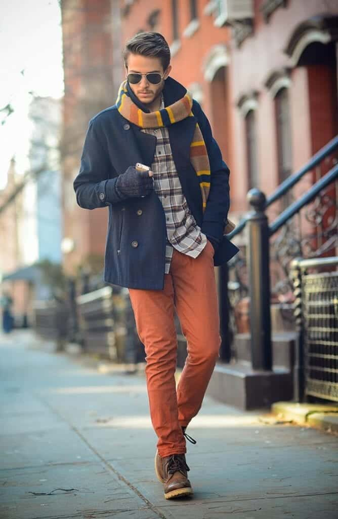 how to wear orange pants for men (4)