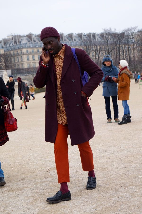 how to wear orange pants for men (3)