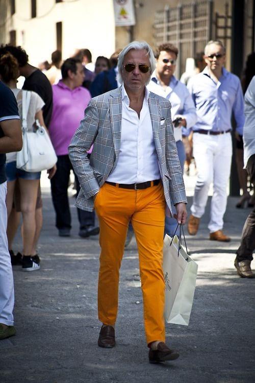 yellow-dress-pants Men's Yellow Pants Outfits-35 Best Ways to Wear Yellow Pants