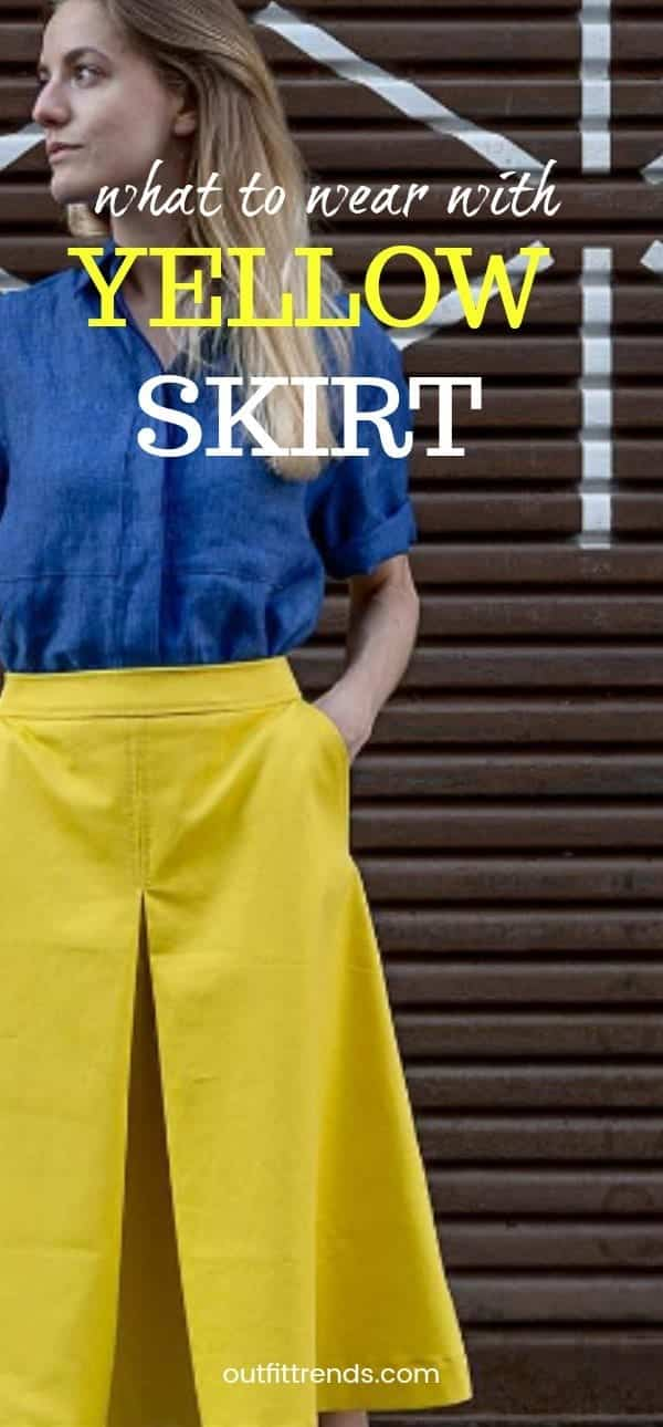 yellow-skirt Yellow Skirt Outfits- 27 Ideas on How to Wear a Yellow Skirt