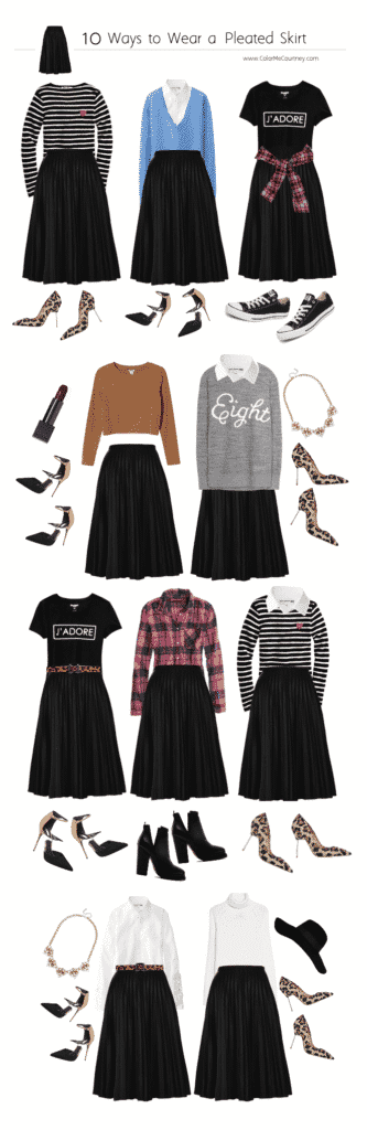Black-Skirt-Outfit-For-Work-333x1024 Professional Skirt Outfits-20 Ideas How To Wear Skirt For Work