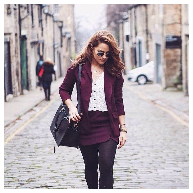 Blazer-Outfit-For-Work Professional Skirt Outfits-20 Ideas How To Wear Skirt For Work