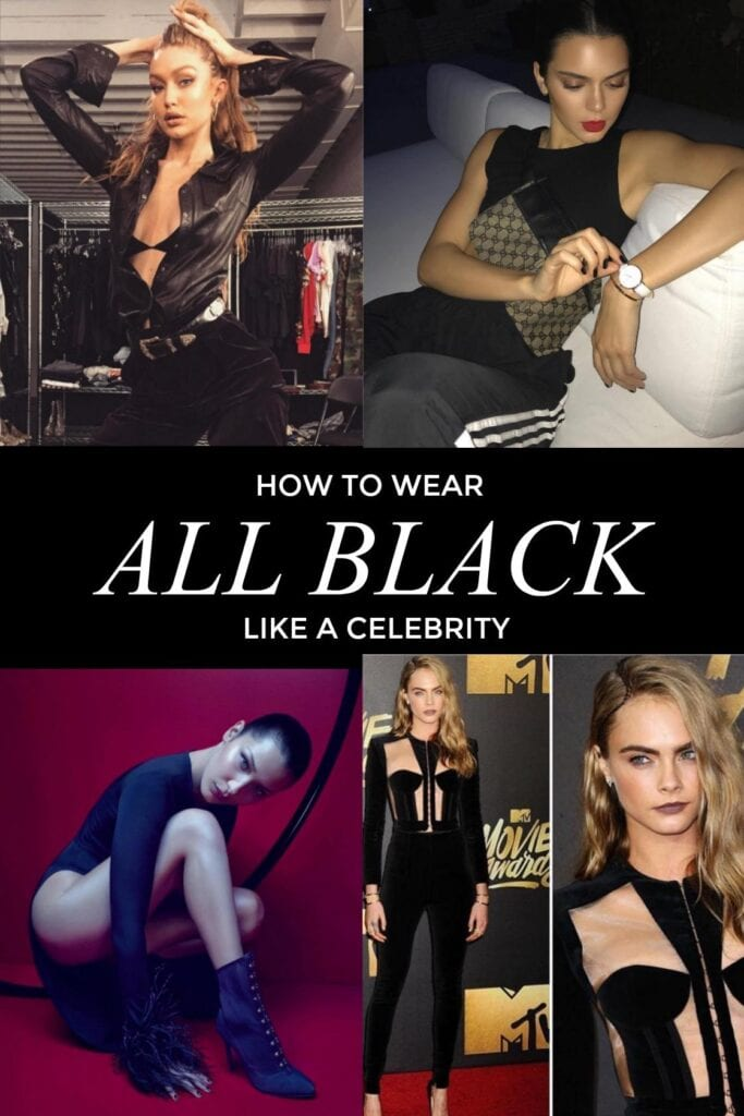 CELEB-683x1024 25 Celebrities All Black outfits Styles for Fall to Copy