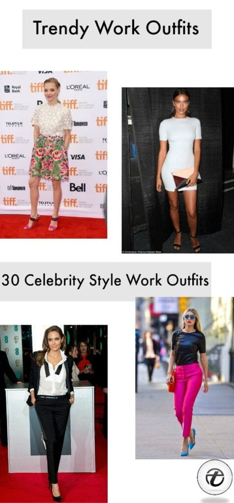 Celebrity-Style-Work-Outfit-476x1024 Celebrity Work Outfits for Women-30 Celeb Style Work Outfits