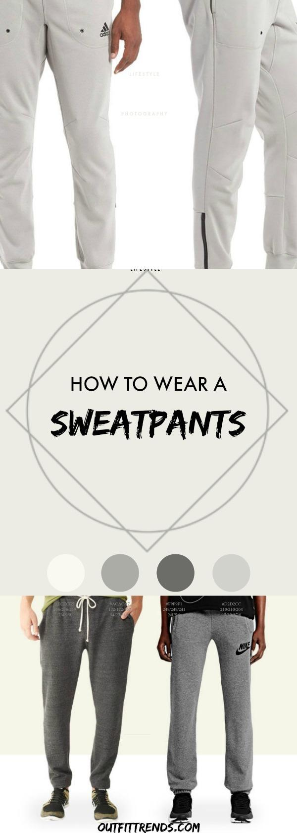 Circled-And-Squared Men Sweatpants Outfits - 20 Cool Ideas on How to Wear Sweatpants