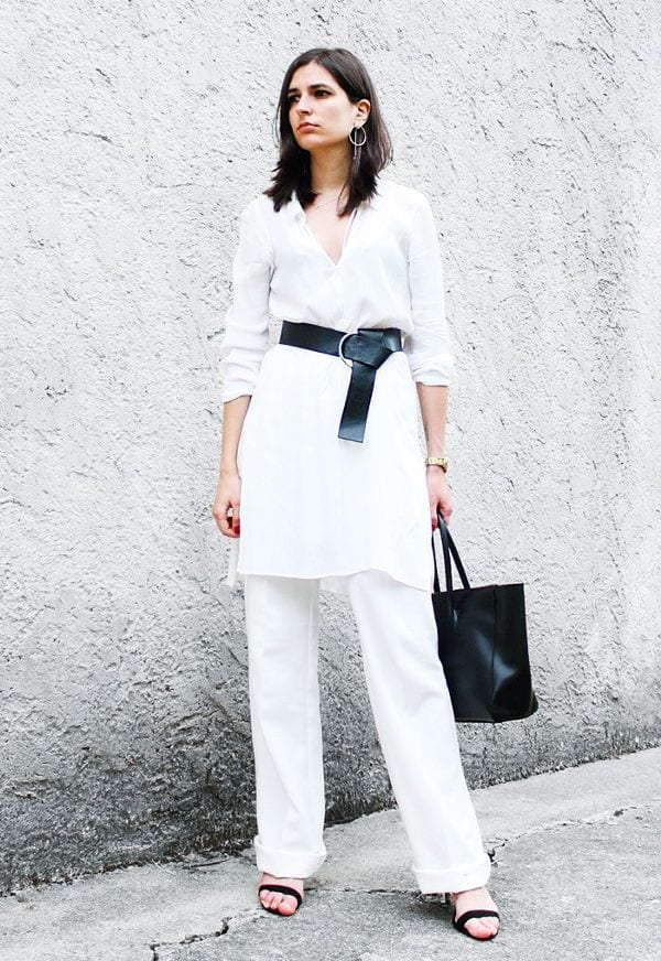 Classy-White-French-Attire Latest French Fashion Trends-20 Ways to Dress Like a French Girl