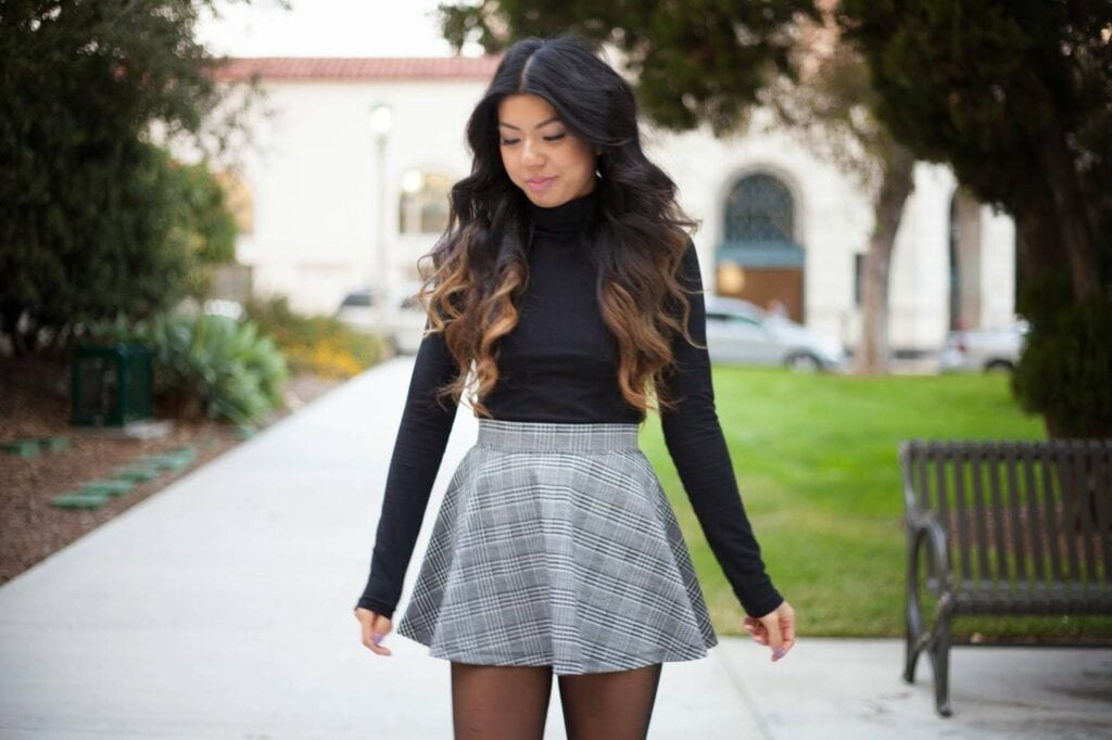 Cute-School-Girls-Skirt-Outfits-1024x682 Skirt Outfits for College- 35 Ideas To Wear Skirts To School