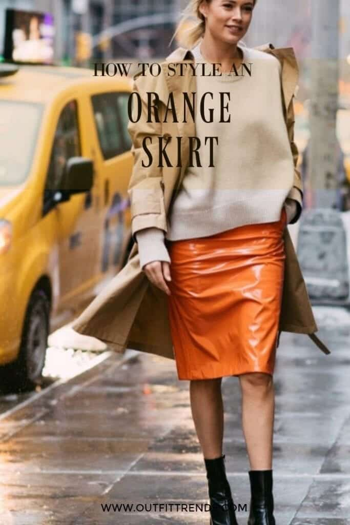 Eating-Simple-683x1024 Orange Skirt Outfits - 27 Ideas on How to Wear Orange Skirts