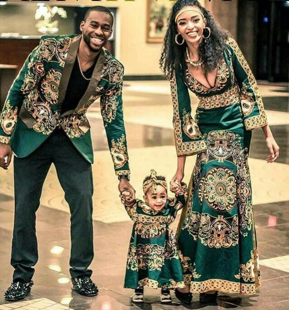 Glamorous-Matching-Attire 30 Cutest Matching Outfits for Black Couples