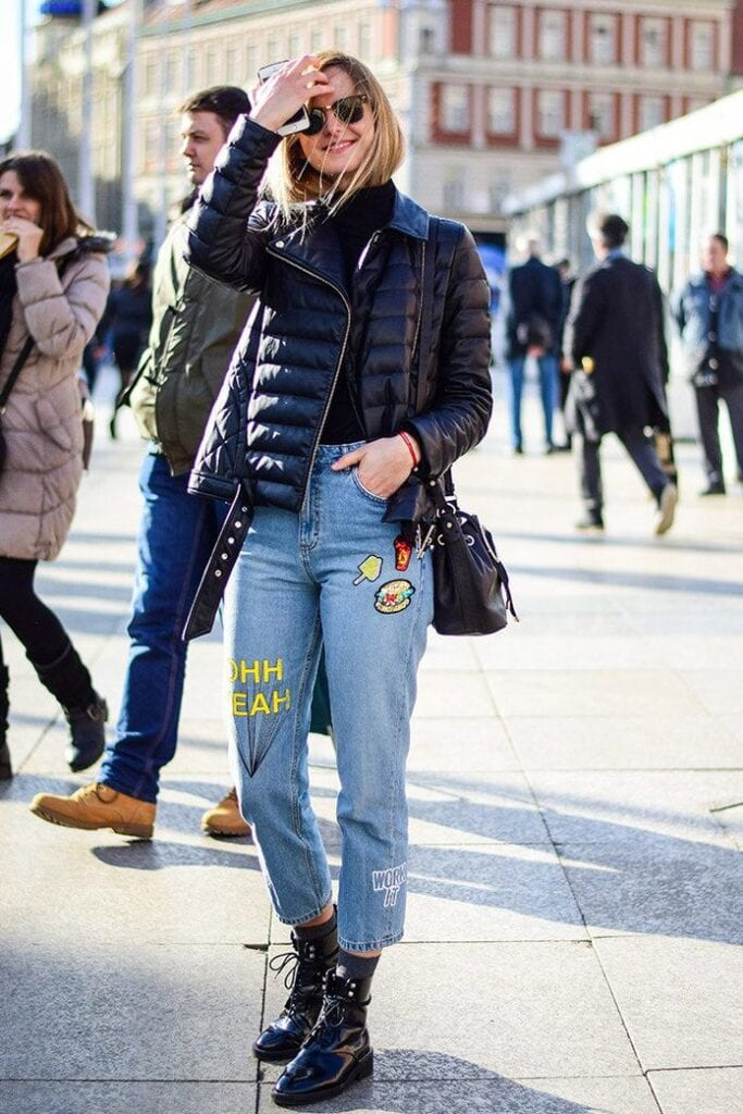 How-to-Wear-Embroidered-Jeans-with-Jackets-683x1024 Embroidered Jeans- 27 Ways to Wear Embroidered Jeans to Work