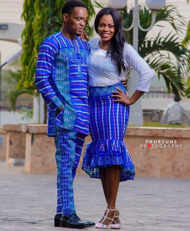 Matching-African-Style-Outfits-for-Parties 30 Cutest Matching Outfits for Black Couples