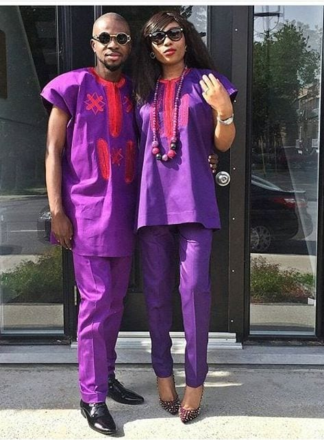 Matching-Agbada-Outfits-for-Couples 30 Cutest Matching Outfits for Black Couples