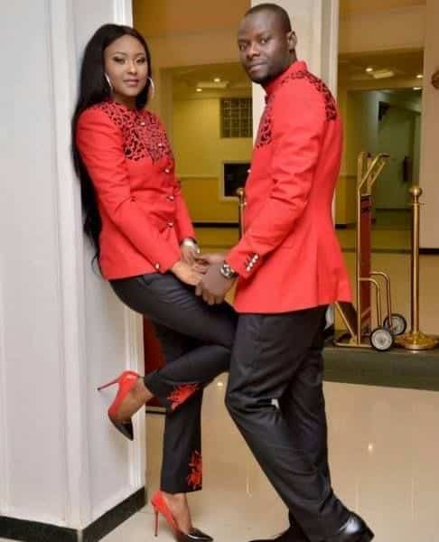 Matching-Embroidered-Dresses-for-African-Couples 30 Cutest Matching Outfits for Black Couples