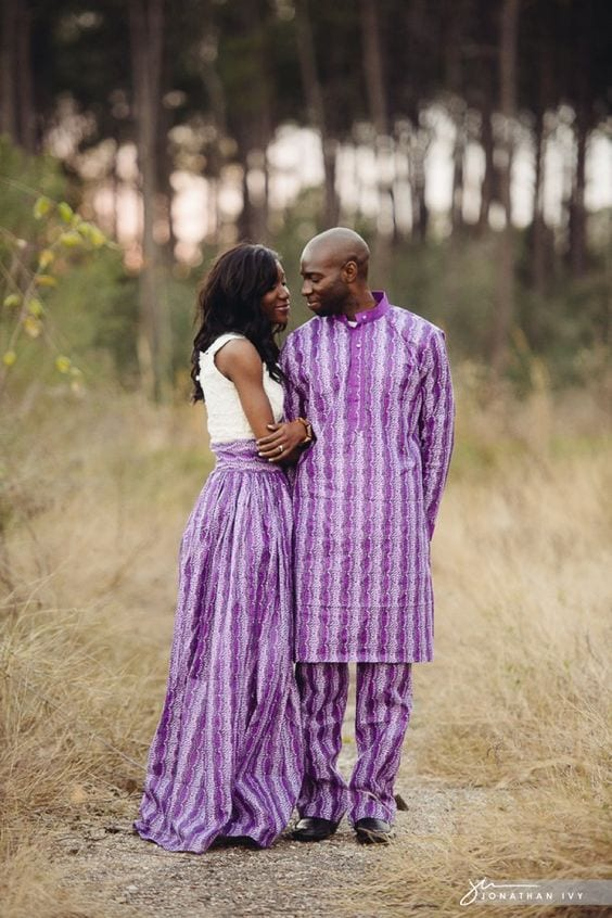Nigerian-Style-Outfit-Twinning 30 Cutest Matching Outfits for Black Couples