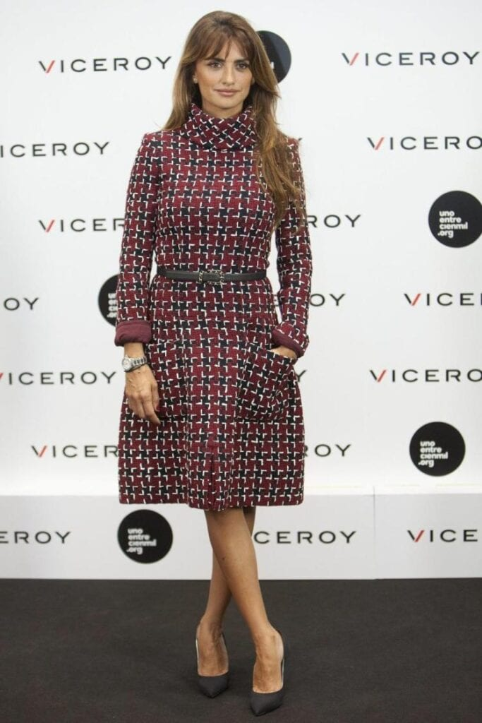 Penélope-Cruz-Printed-Outfit-for-Work-683x1024 Celebrity Work Outfits for Women-30 Celeb Style Work Outfits