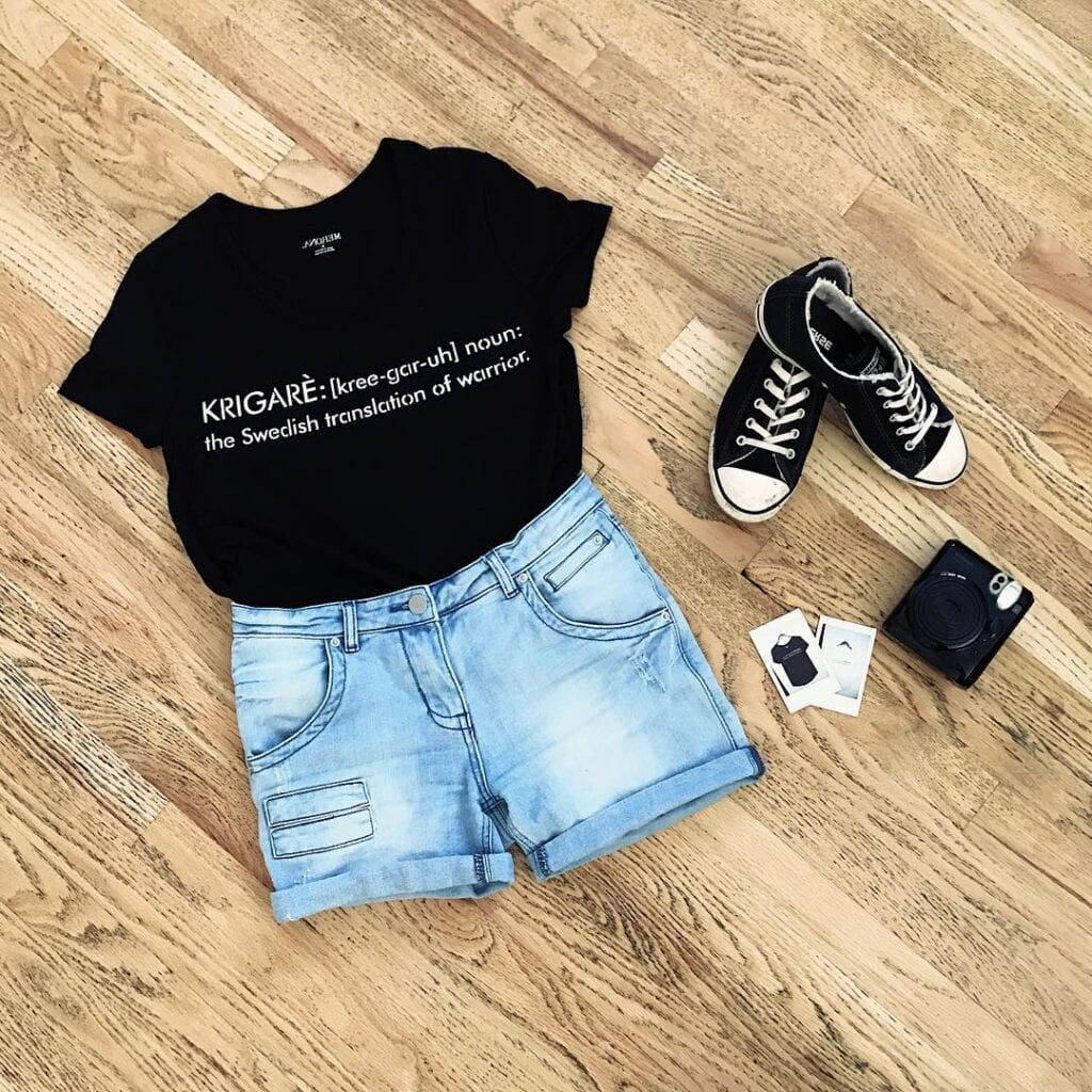 Picnic-Black-Shirt-Outfit-1024x1024 Girls Black Shirt Outfits-30 Different Ways to Wear Black Shirts