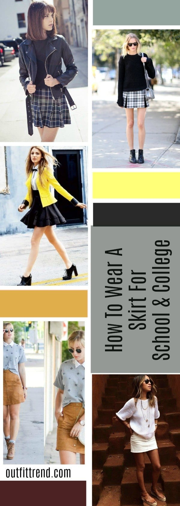 So-Moody Skirt Outfits for College- 35 Ideas To Wear Skirts To School