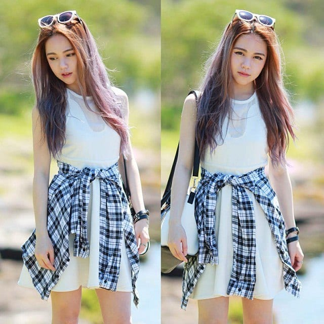 What-To-Wear-For-School-Field-Trip Skirt Outfits for College- 35 Ideas To Wear Skirts To School