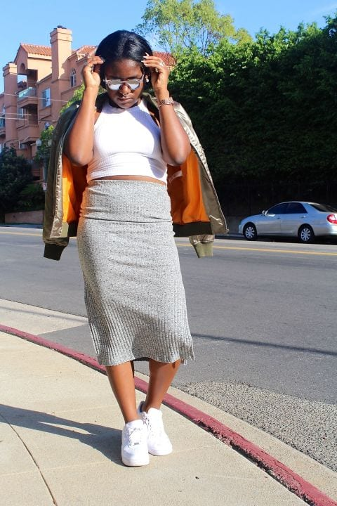 What-To-Wear-On-The-First-Day-To-College Skirt Outfits for College- 35 Ideas To Wear Skirts To School