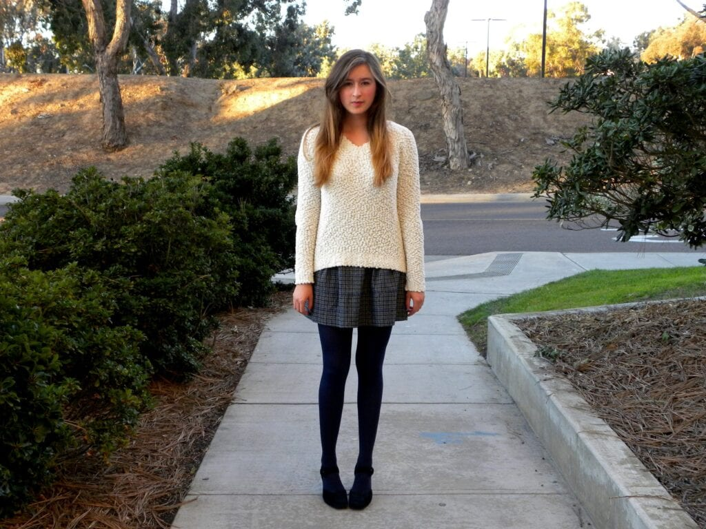 Winter-Skirt-Outfit-Ideas-For-Girls-1024x768 Skirt Outfits for College- 35 Ideas To Wear Skirts To School