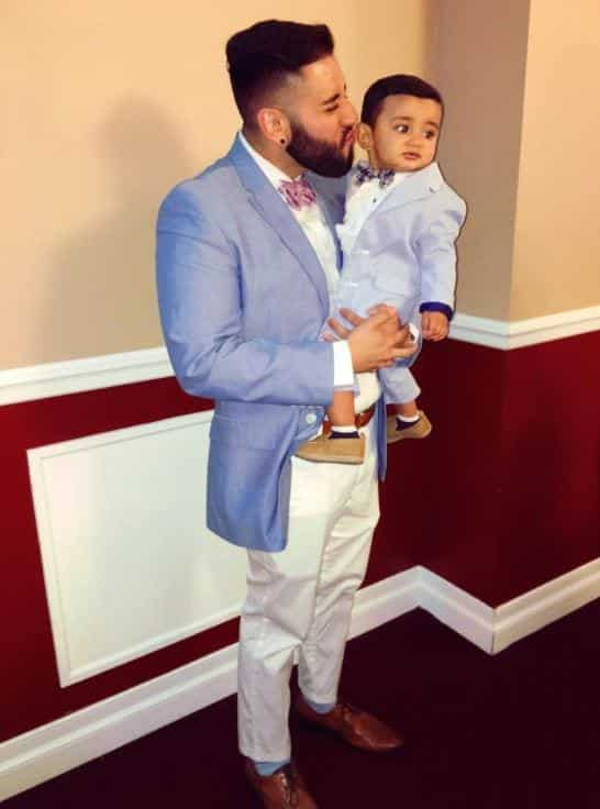 father-and-son-matching-wedding-suits Father & Son Twinning-30 Amazing Father Son Matching Outfits