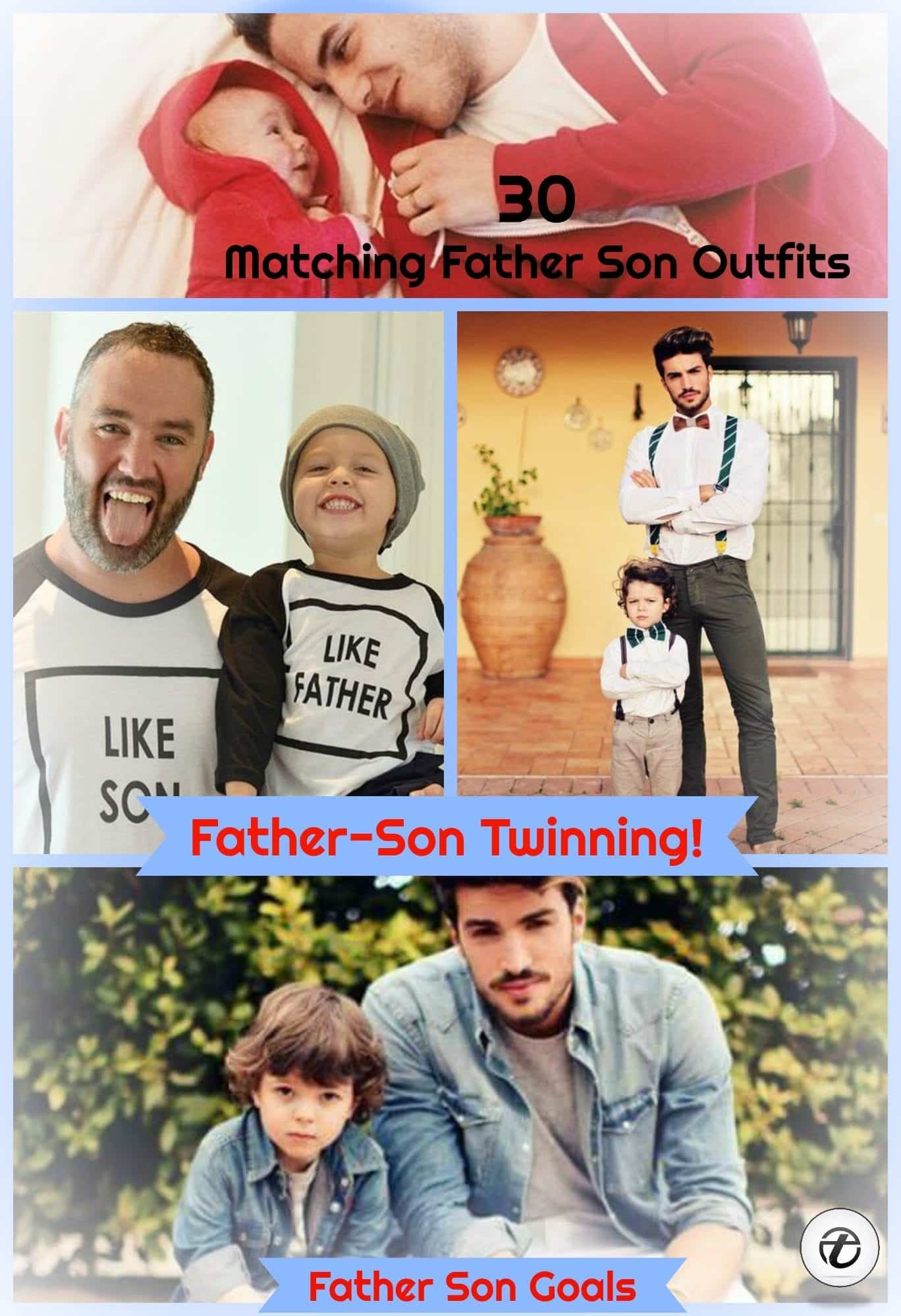 father-son-matching-outfits Father & Son Twinning-30 Amazing Father Son Matching Outfits