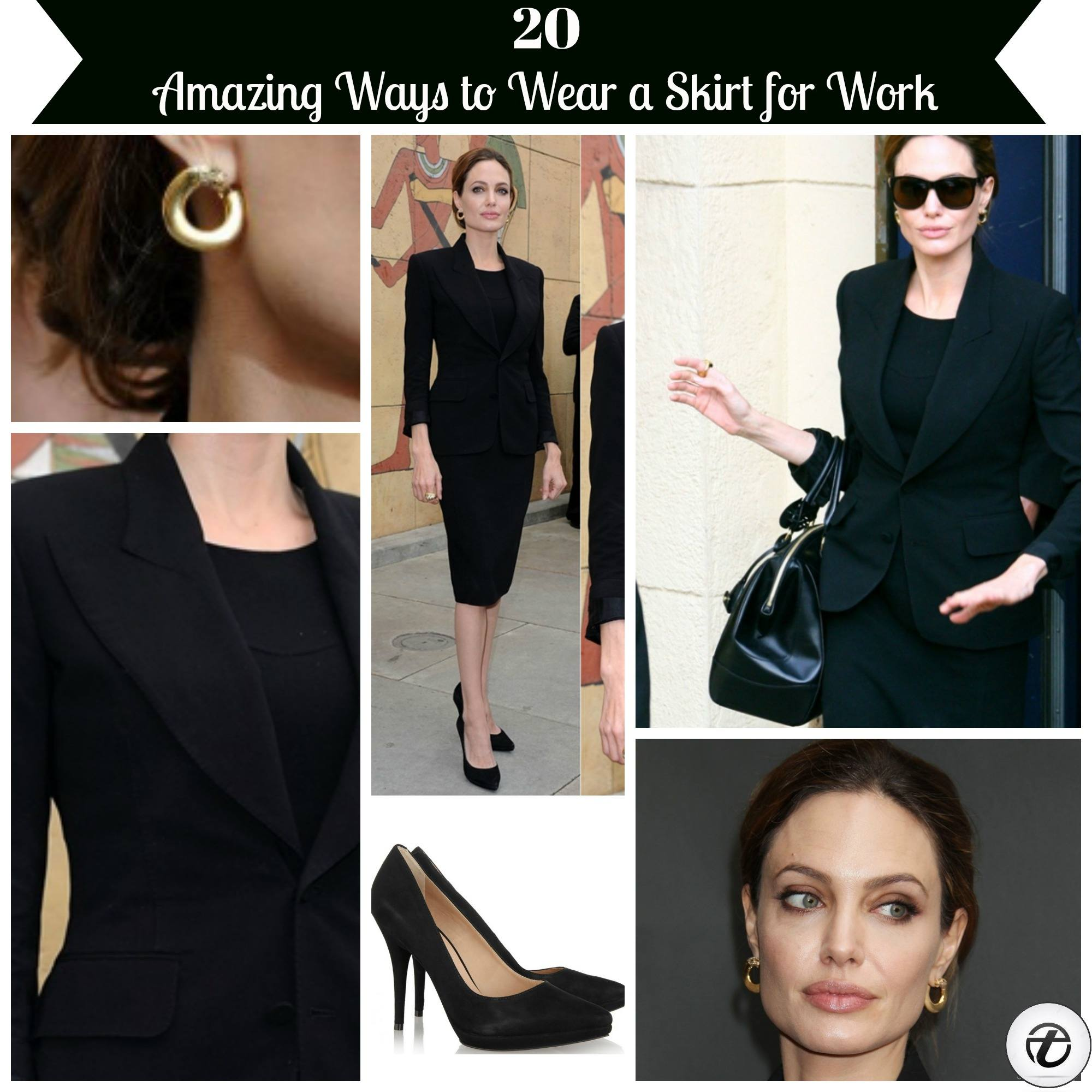 how-to-wear-a-skirt-for-work Professional Skirt Outfits-20 Ideas How To Wear Skirt For Work