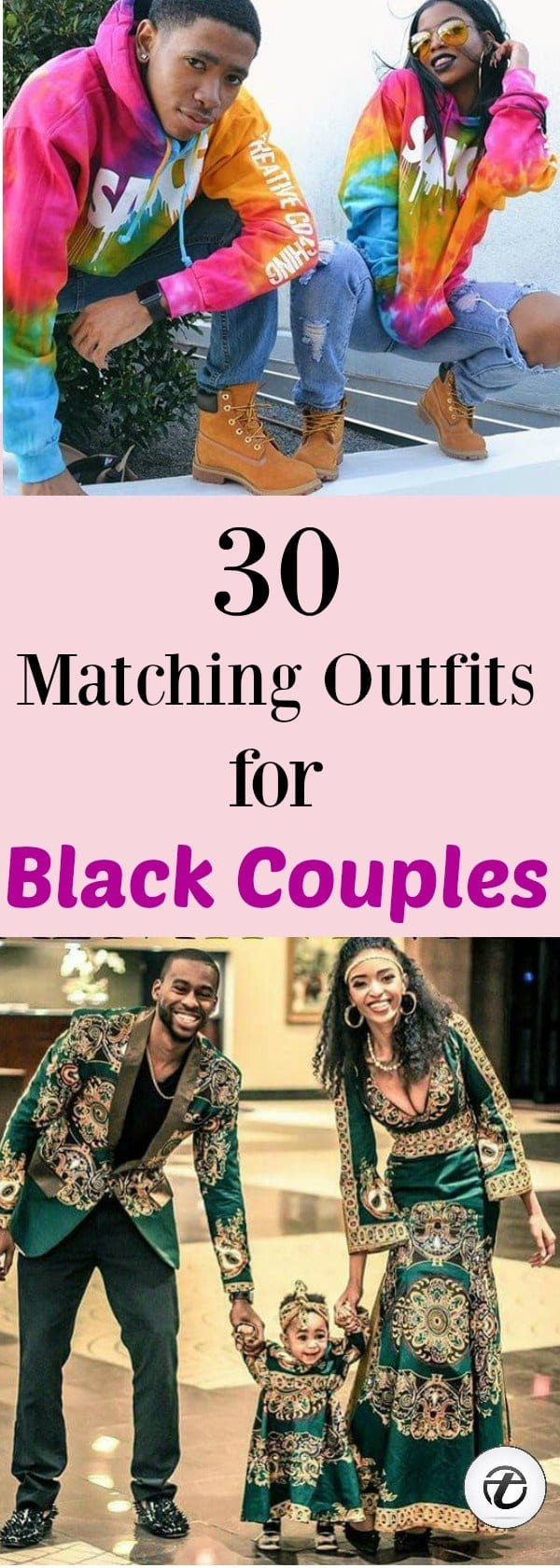 matching-outfits 30 Cutest Matching Outfits for Black Couples
