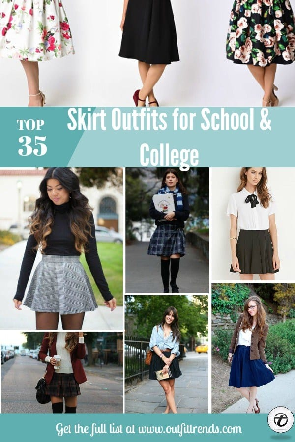 skirt-outfit-for-school-and-college-girls Skirt Outfits for College- 35 Ideas To Wear Skirts To School
