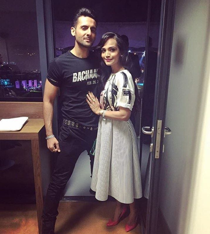 Amina-Sheikh-And-Mohib-Mirza-2 Pakistani Couple Outfits-25 Best Outfits Of Pakistani Celebrities