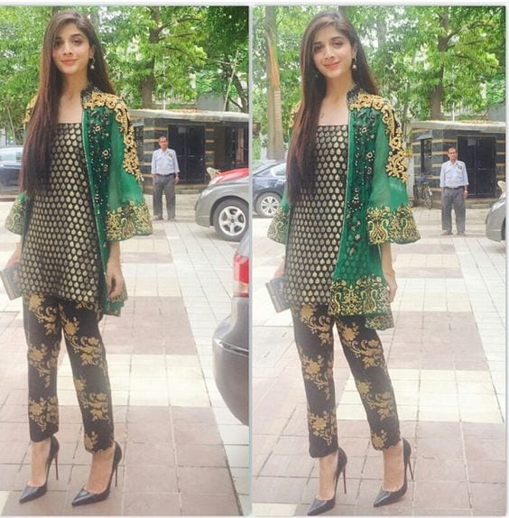 Embroidered-Jackets-for-Parties-for-Pakistani-Girl 30 Trending Party Outfits for Pakistani Girls