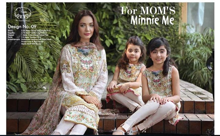 Matching-Designer-Outfits-for-Mom-and-Minnie-Me-Pakistani 20 Coolest Pakistani Mother Daughter Matching Outfits