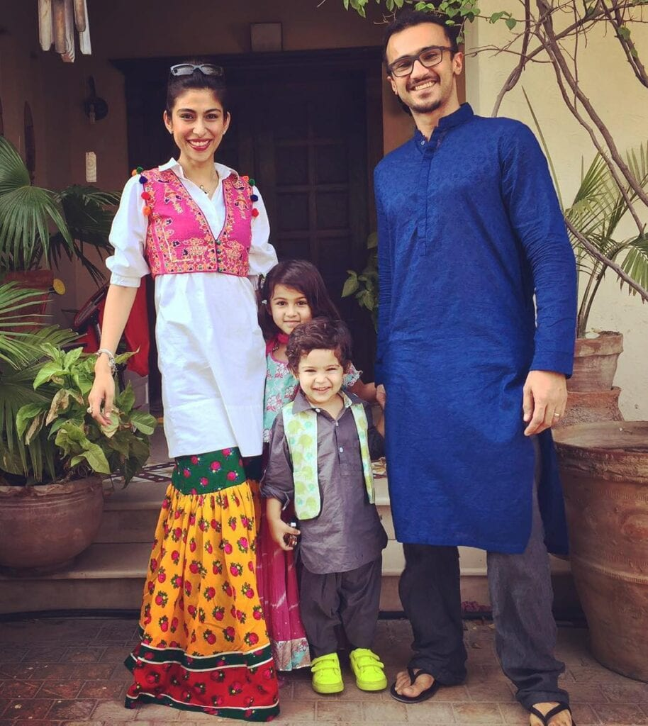 Meesha-Shafi-And-Husband-914x1024 Pakistani Couple Outfits-25 Best Outfits Of Pakistani Celebrities