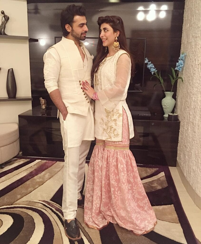 Most-Popular-Pakistani-Celebrity-Couple1-845x1024 Pakistani Couple Outfits-25 Best Outfits Of Pakistani Celebrities