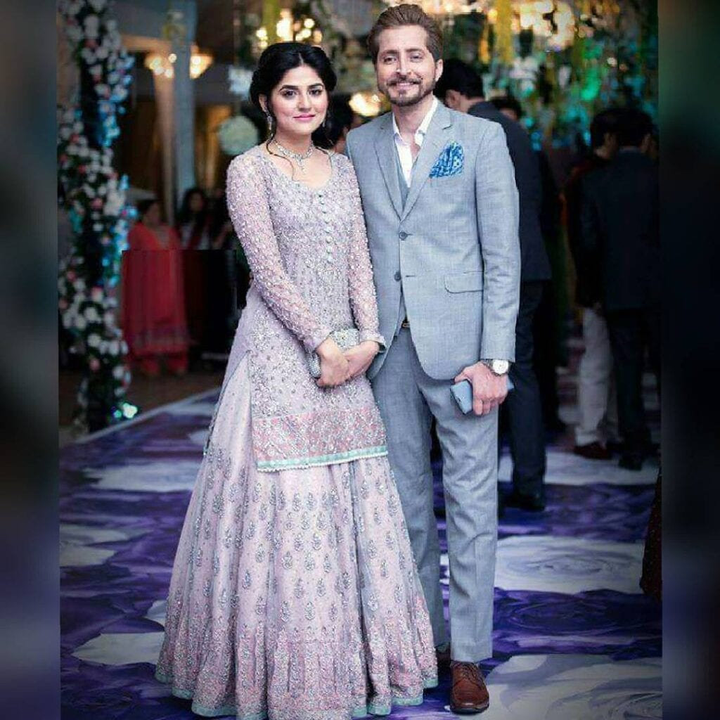 Sanam-Baloch-And-Abdullah-1024x1024 Pakistani Couple Outfits-25 Best Outfits Of Pakistani Celebrities