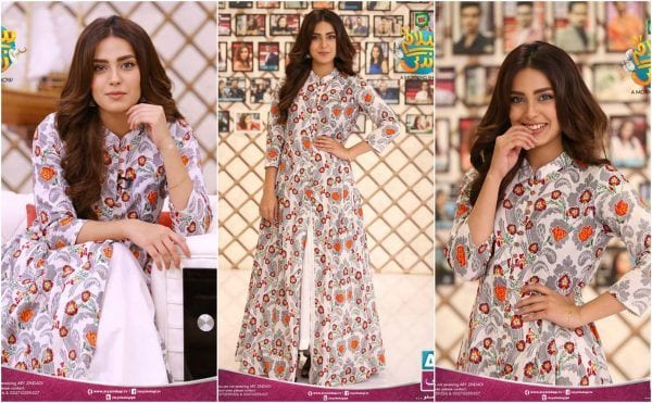Slit-Cut-Outfit-for-Short-Ladies 20 Classy Outfits for Pakistani Girls with Short Height