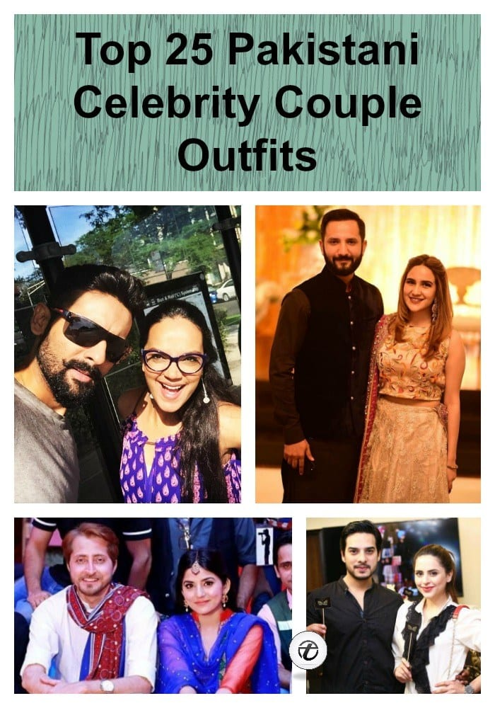 Top-25-Pakistani-Celebrity-Couple-Outfits Pakistani Couple Outfits-25 Best Outfits Of Pakistani Celebrities