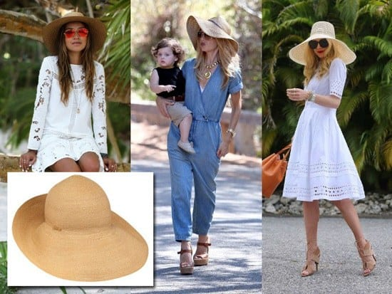 Celebrity-Style-Straw-Hats-Attires Straw Hat Outfits - 20 Ways to Wear a Straw Hat This Summer