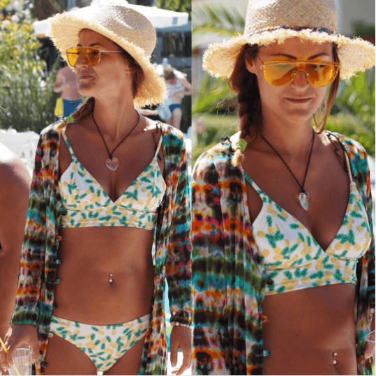 How-to-Wear-a-Straw-Made-Hat-with-a-Bikini Straw Hat Outfits - 20 Ways to Wear a Straw Hat This Summer