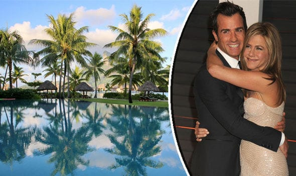 Jennifer-Aniston-and-Justin-Theroux-Honeymoon-Destination 30 Most Beautiful Honeymoon Destinations of Famous Celebrities