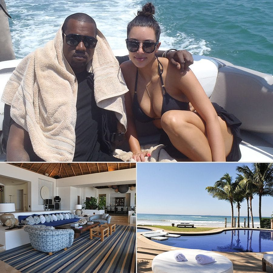 Kim-Kardashian-and-Kanye-West-Honeymoon-Destination 30 Most Beautiful Honeymoon Destinations of Famous Celebrities