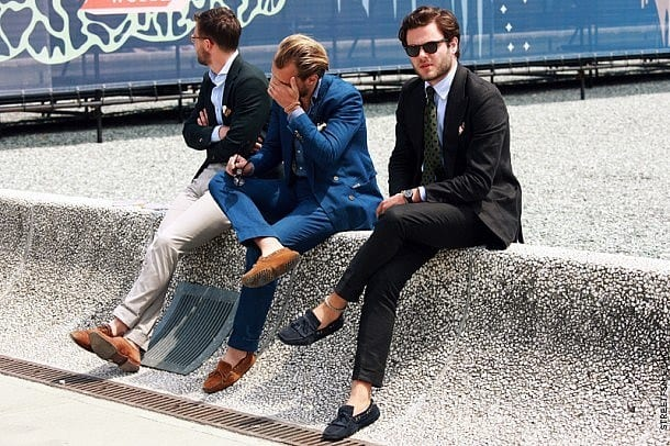 Suits-with-Sockless-Shoes Mens Sockless Guide-27 Ways for Men to Wear Shoes without Socks