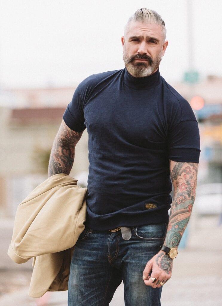 22-743x1024 Men Turtleneck Style-23 Ideas How to Wear Turtleneck For Men