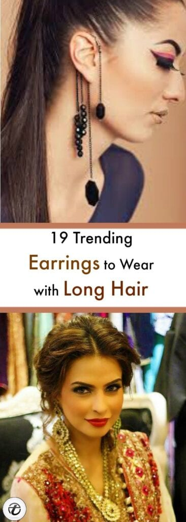 Earrings-to-Wear-with-Long-Hair-366x1024 19 Cute Ways to Wear Earrings with Long Hairs
