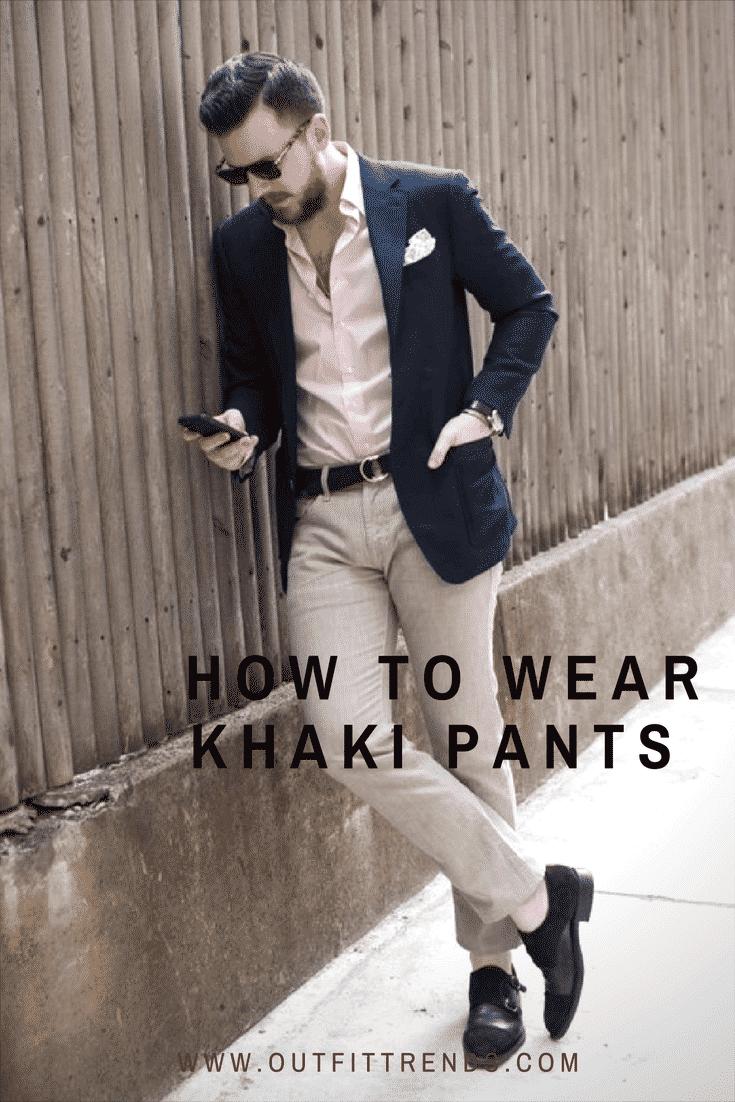ostella-bistro Men Khaki Pants Outfits- 30 Ideal Ways to Style Khaki Pants