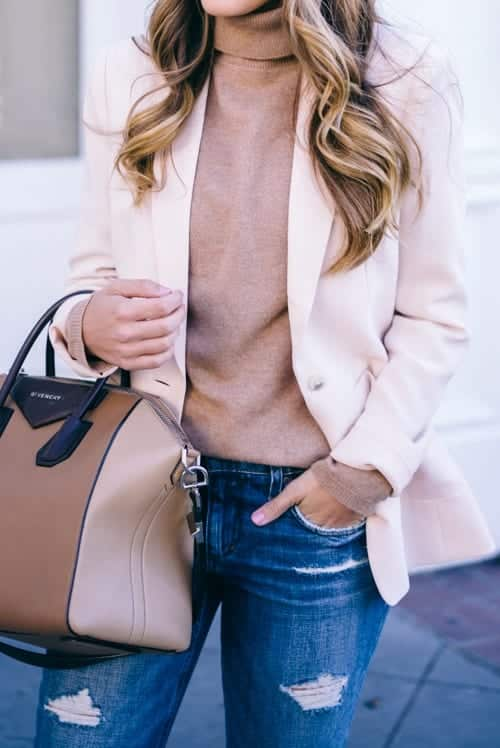 tt6 Women Turtleneck Outfits-23 Ideas How To Style a Turtleneck