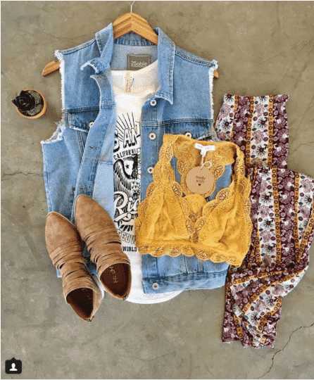 Hippie-Pants-with-Denim How to Wear Hippie Pants for Women - 25 Outfit Ideas
