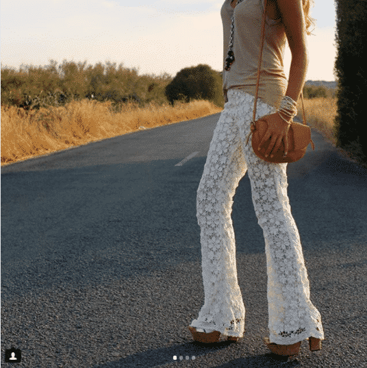 Lacy-Hippie-Bottoms How to Wear Hippie Pants for Women - 25 Outfit Ideas
